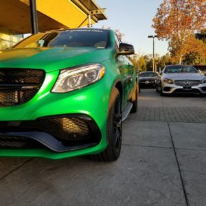 Mercedes Benz GLE AMG wrapped in 3M Green Envy.